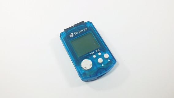 Vmu Dreamcast - Original - Azul - Funcionando - Memory Card