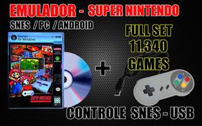 Controle Usb Snes + 11340 Roms Pc / Android ( Xgamelive )