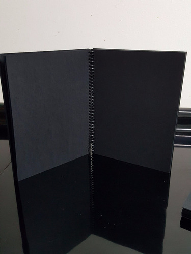 Cuaderno O Croquera Hojas Negras Tam Carta 50 Hojas Espiral