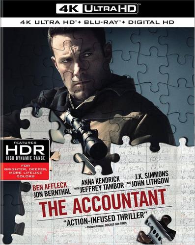 Imagen 1 de 3 de 4k Ultra Hd + Blu-ray The Accountant / El Contador