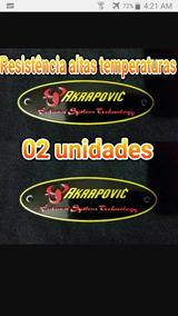 Akrapovic 02 Placa Metal Temperatura Ponteira Escape