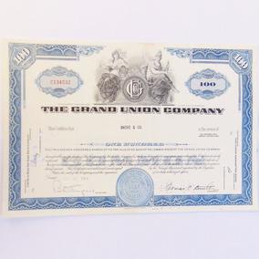 Bela Apólice Ação The Grand Union Company 1964 Objeto Antigo
