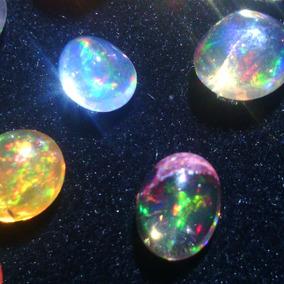 5 Opalos De Fuego Puros Cabuchon