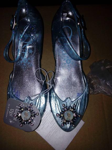 Flats , Zapatillas Disney Store Frozen Para Niña Con Luz