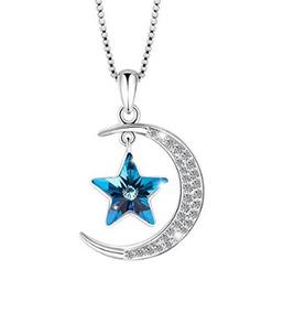 Colar Lua E Estrela Com Cristais Swarovski- Glam0125