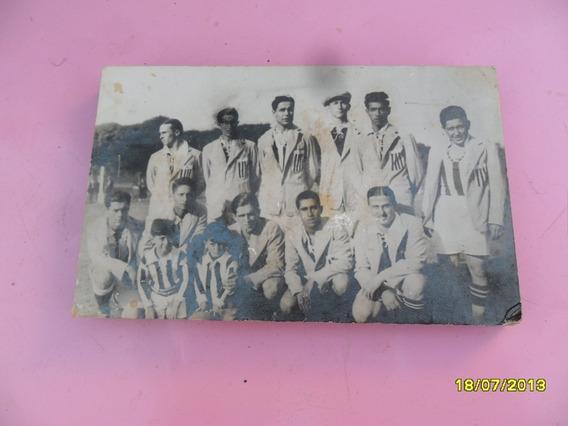 Antigua Foto Equipo Cuadro Futbol Con Saco Escudo Tipo Mural
