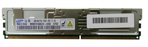 Imagem 1 de 1 de Memoria Ddr2 4gb 2rx4 Pc2-5300f Samsung M395t5160cz4-ce65