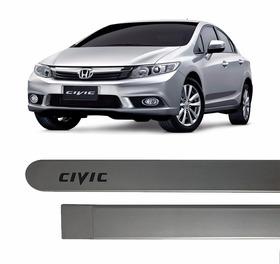 Friso Lateral Pintado New Civic 2012 13 A 2017 Cinza Iridium