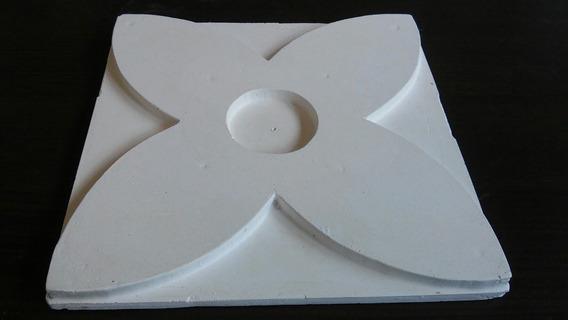 Molde Forma De Silicone Para Gesso 3d 25x25 Atm97