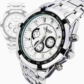 Relógio De Pulso Curren Quartz Luxury Em Aco Inox