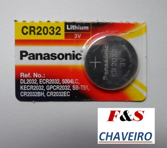 Bateria Cr2032 Panasonic Original Da Chave Onix