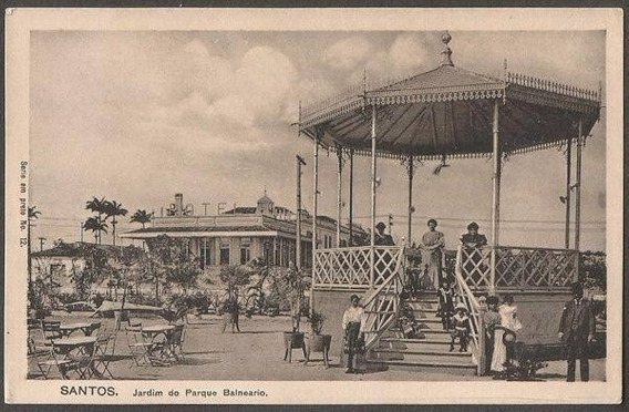 Santos - Jardim Do Parque Balneario - Cartão Postal Antigo
