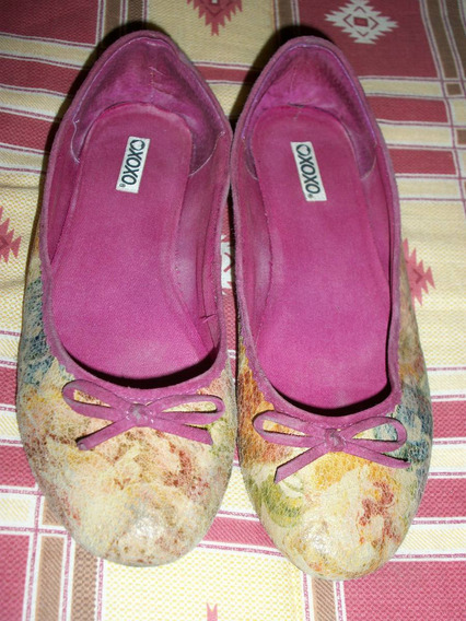Zapatos Flats Xoxo 100% Originales 4 Mex Estampados