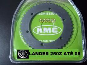 Relação Xtz Lander 250 Até 2008 Kit Tração Kmc Aço 1045 S/ R