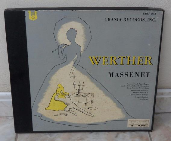 Werther-massenet-box 3 Lps-importado(colecionador-mg)