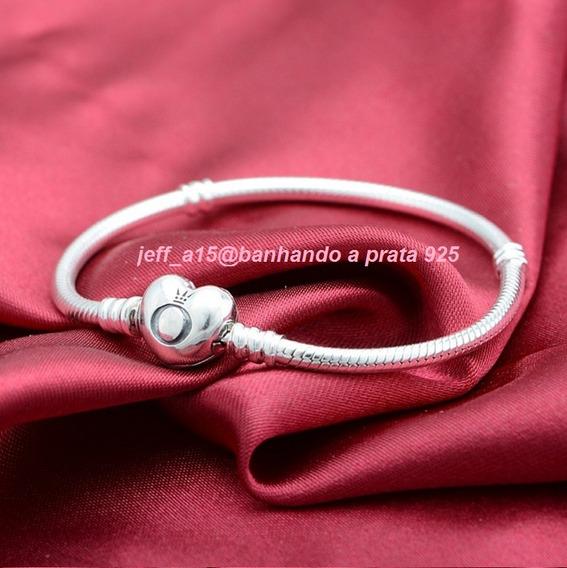 Bracelete Importado Pandora Fecho Coração+ Brinde