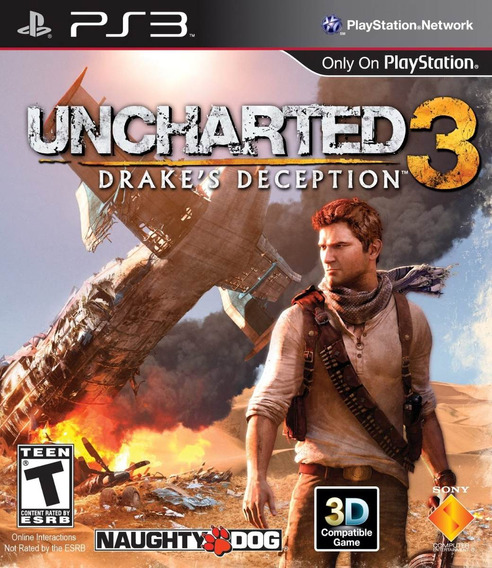 Jogo Uncharted 3 Drakes Deception Ps3 Playstation 3 Inglês