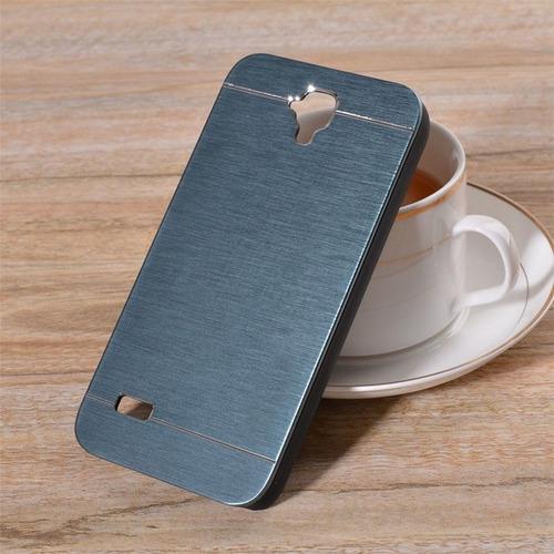 Case Para Huawei Y560 Metálico De Aluminio Azul Acero