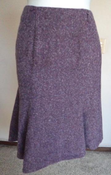 Talla-6 Dressbarn Falda Color Camote Corte Moderno! Fch228