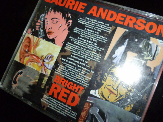 Laurie Anderson Red Bright Sampler Vivo C/lou Reed Brian Eno