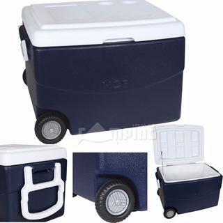 Caixa Termica Rodas Cooler 70l Mor Grande Revestida De Pu