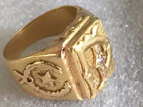 Anel Em Ouro 18 K-750-12.5 Gramas, Aro-24.