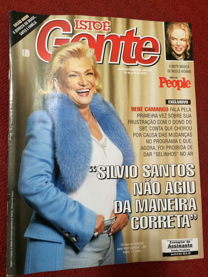 Revista Istoé Gente Hebe C Ana Paula A Nicole K Superman Nov