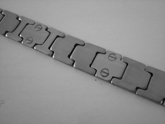 Pulseira Masculina Aço Inoxidável Com Desenhos Parafuso