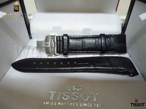 Pulseira De Couro Tissot T035627a 24mm Preto - Original