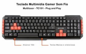 Teclado Gamer Multilaser Sem Fio Gamer Red Keys - Tc19