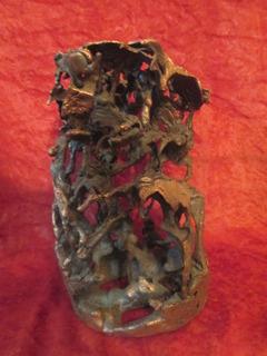 Escultura De Arte Figura De Cobre Fundido