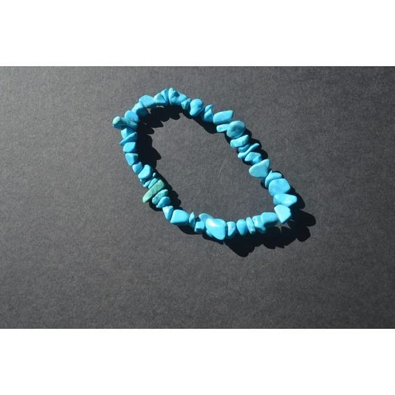 Pulseira Pedra Howlita Azul