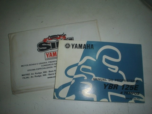 Manual Moto Yamaha Ybr 125 2000 2001 2002 2003 2004 Original