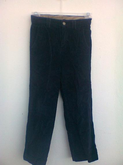 Pantalon Niño Gap De Pana Negra T- 7 Regular Fashion,frio