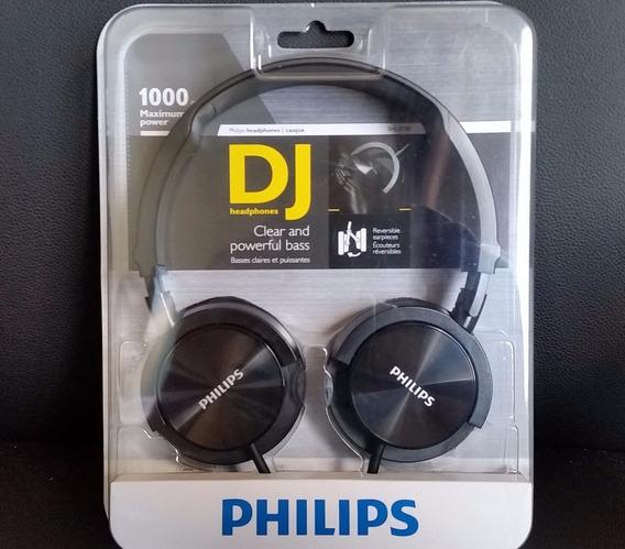 Fone De Ouvido Headphones Dj Philips Shl 3000 Preto 1000 Mw