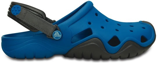 Zapato Crocs Caballero Swiftwater Clog Azul/gris