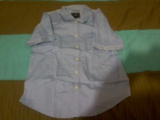 Camisa Azul Manga Corta Gap Talla 8 Vv4