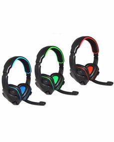 Novo Headset Usb Com Fio Gamer Pc Ou Ps3 Original Knup 357