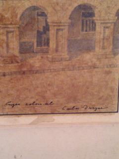 Pintura Carlos Dreyer Cuzco Colonial