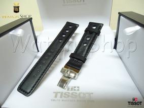 Pulseira De Couro Tissot T17 T067 T049 19mm Preta Original