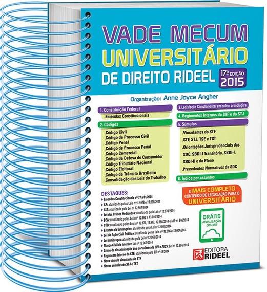 Vade Mecum Universitário De Direito Rideel ¿ 2015 Lançamento