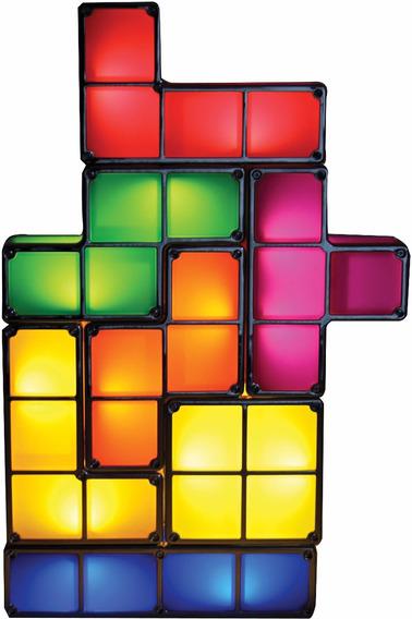 Lampara Forma De Tetris Luz Por Induccion Armable Tamaño Grande