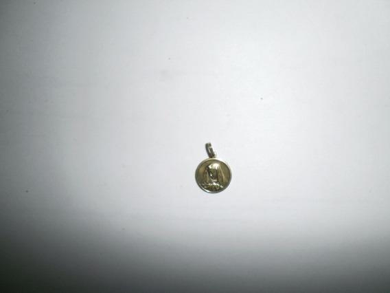 Dije De Oro Italiano 18k Virgen Maria 1 1/2 Cm Diametro