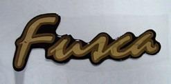Emblema Adesivo Resinado Fusca Dourado Série Ouro Itamar