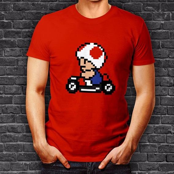 Playera Mario Kart Toad Hongo Mario Bros Oferta