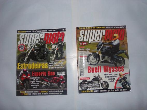2 Revistas Da Super Moto, Em Ótimo Estado.