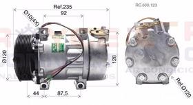 Compressor Caminhão Scania Tração 8x4 - 7h15 Polia 8pk 24v