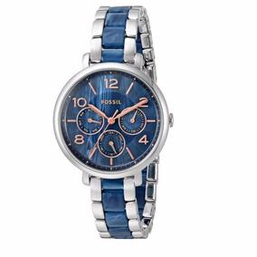 Relógio Fossil Feminino Es4011/5an Azul Aço Oferta