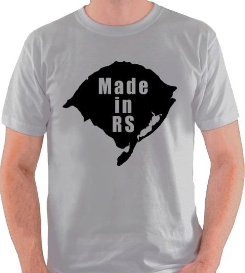 Camiseta Made In Rs Rio Grande Do Sul Camisa Blusa Gaúcho