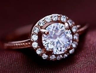 Anillo Princesa Swarovsky Crystals Talla 7 Con Estuche